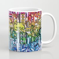 hong kong Mugs featuring Hong kong by 2tehmax