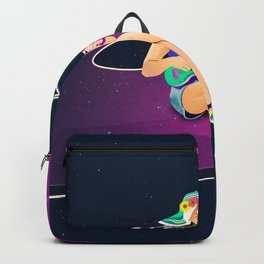 The girl from Saturn by #Bizzartino Backpack