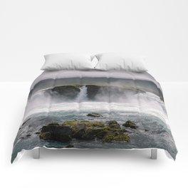 Waterfall 02 - Iceland Comforters