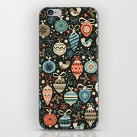 folk iPhone & iPod Skins featuring Festive Folk Charms by Poppy & Red