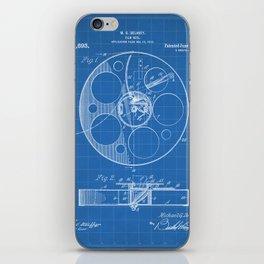 Film Reel Patent - Classic Cinema Art - Blueprint iPhone Skin
