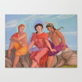Apollo, Aphrodite and Dionysus Canvas Print