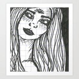 White Eyes Art Print