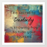 creativity Art Prints featuring Creativity by My Joie De Vivre
