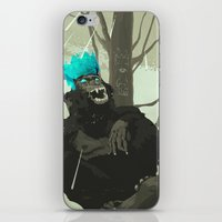 holographic iPhone & iPod Skins featuring Uneasy Lies the Head That Wears the Holographic Crown by Alex Craig