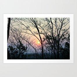 Breaking dawn Art Print