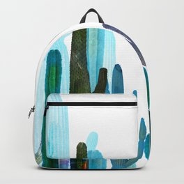 blue cactus Backpack