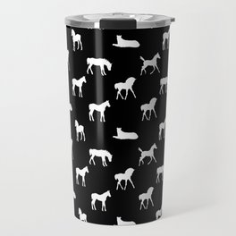 Foals All Over Pattern White Travel Mug