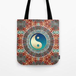 Bohemian Batik Yin Yang Tote Bag