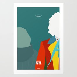 """Doctor Who 50th Anniversary Posters - """"The 6th Doctor"""" Art Print"""
