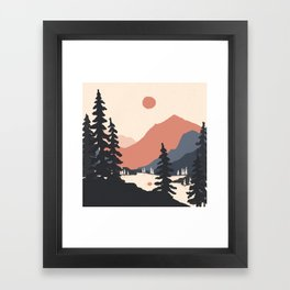 View From the East Shore... Framed Art Print