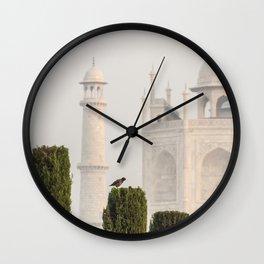 Bird at the Taj Wall Clock