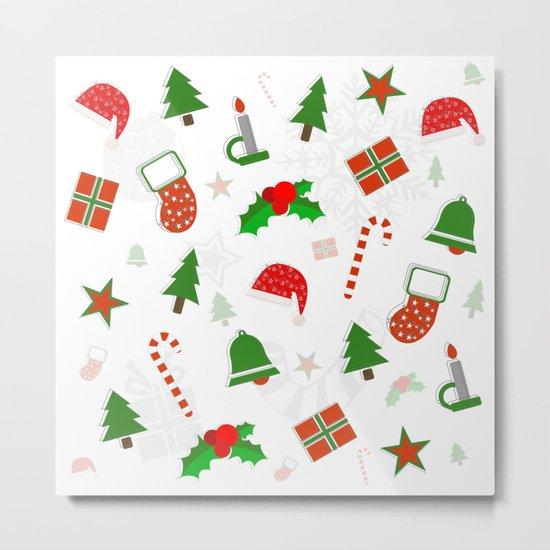 Christmas Pattern #2 Metal Print