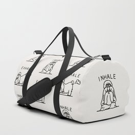 Inhale Exhale Shih Tzu Duffle Bag