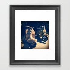 Vintage Italian Scooters Framed Art Print