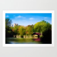 central park Art Prints featuring Central Park by Tres Cameo Art & Photography
