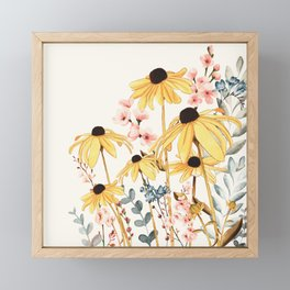 Summer Flowers Framed Mini Art Print