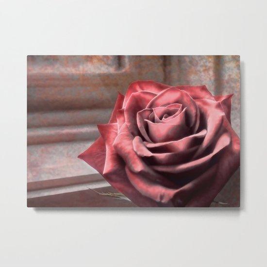 Love Is A Rose Metal Print