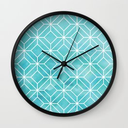 Geometric Crystals: Sea Glass Wall Clock