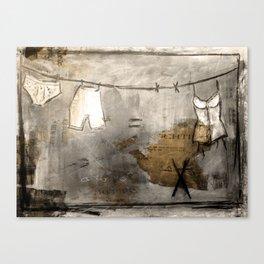 laundry stories Canvas Print