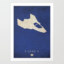 F-Zero X - Nintendo 64 Minimalist Art Print