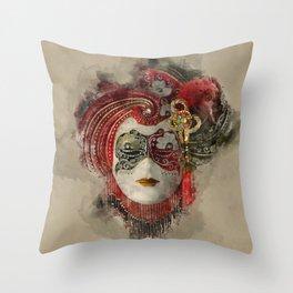 Venetian Mask 1 Throw Pillow