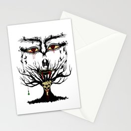 spooky tree Stationery Cards