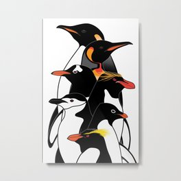 Penguins of Antarctica (vertical) Metal Print