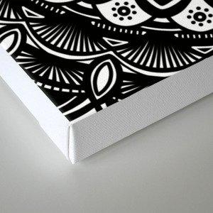 Bold Mandala Black and White Simple Minimal Minimalistic Canvas Print