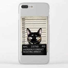 Kitty Mugshot Clear iPhone Case