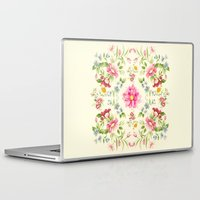folk Laptop & iPad Skins featuring folk floral by clemm