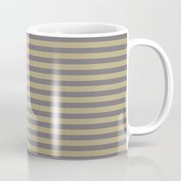 Rayures stripes moutarde taupe Coffee Mug