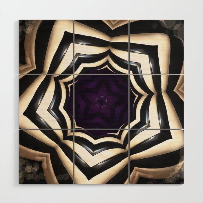 Dark Mandala #2 Wood Wall Art