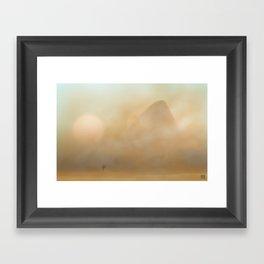 Sandstorm on Arrakis Framed Art Print