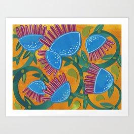 Blue Beanstalks Art Print