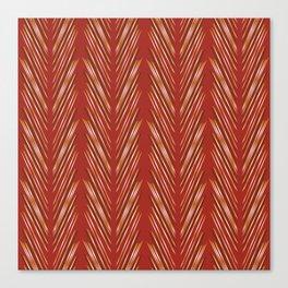 Wheat Grass Terra Cota Canvas Print