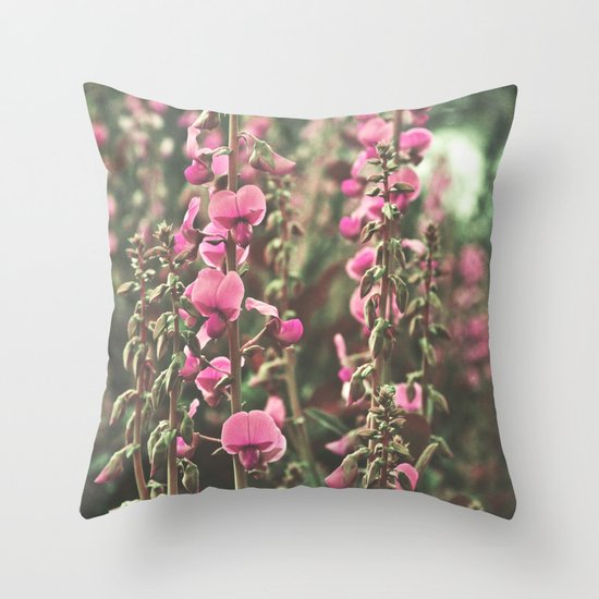 Vintage Wildflowers Throw Pillow