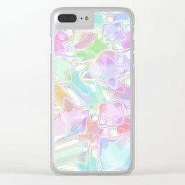 Cute Pastel Colored Swirls Waves Art Pattern Clear iPhone Case