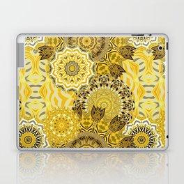 Yellow Boho Mandela Pattern Laptop & iPad Skin