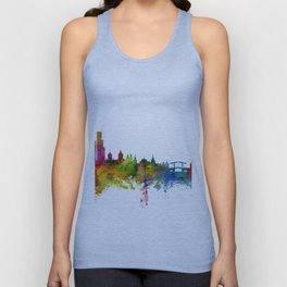 Amsterdam The Netherlands Skyline Unisex Tank Top