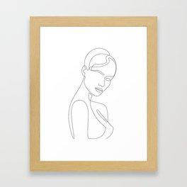 Shy Portrait Framed Art Print