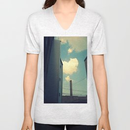 Chicago Clouds and Smokestack Unisex V-Neck