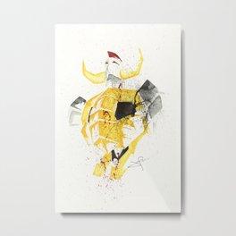 Gaiking - Splatter Artwork Metal Print