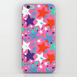 Fun ditsy print with constellations and twinkle lights iPhone Skin