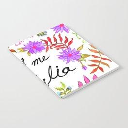 Call Me Cordelia - Purple Flowers Notebook