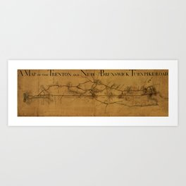 Trenton New Brunswick Turnpike 1800 Art Print