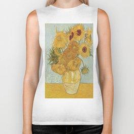 Vincent van Gogh's Sunflowers Biker Tank
