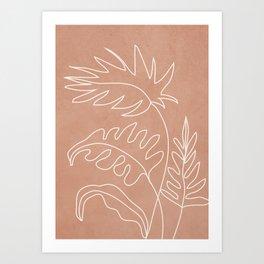 Engraved Plant Line Art Print