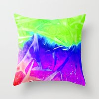 Aurora 3 - Green Sky Throw Pillow