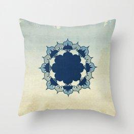 Lotus Mandala Sand Water Wash Throw Pillow